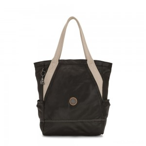 Kipling ALMATO Large Spacious Tote Bag Delicate Black