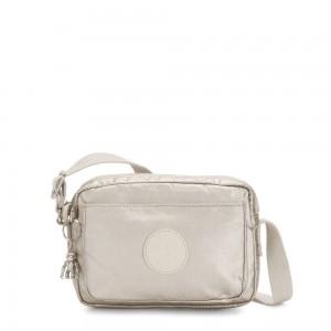 Kipling ABANU Mini Crossbody Bag with Adjustable Shoulder Strap Cloud Metal