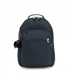 Kipling CLAS SEOUL Large backpack with Laptop Protection True Navy