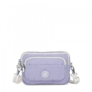 Kipling MULTIPLE Waist Bag Convertible to Shoulder Bag Active Lilac Bl