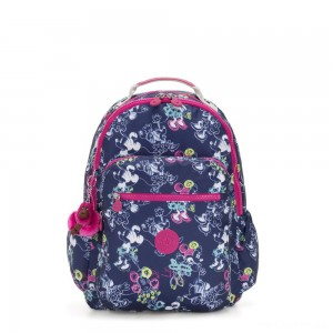 Kipling D SEOUL GO Large Backpack with Laptop protection Doodle Blue