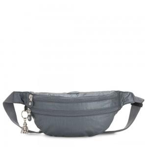 Kipling SARA Medium Bumbag Convertible to Crossbody Bag Steel Grey Metallic