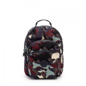 Kipling SEOUL S Small Backpack with Tablet Compartment Camo Large