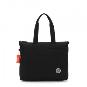 Kipling CHIKA Large tote bag with laptop protection Brave Black