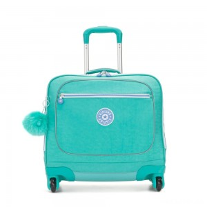 Kipling MANARY 4 Wheeled Bag with Laptop protection Deep Aqua C