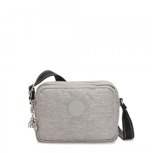Kipling SILEN Small Across Body Shoulder Bag Chalk Grey