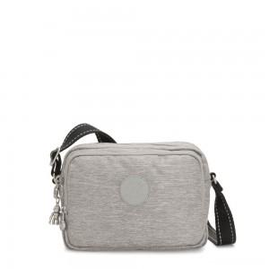 Kipling SILEN Small Across Body Shoulder Bag Chalk Grey